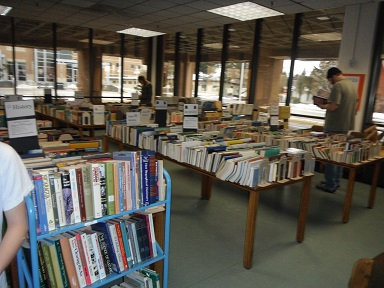 Booksale in Student Lounge