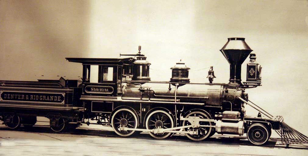 Denver & Rio Grande Wester Railway freight engine