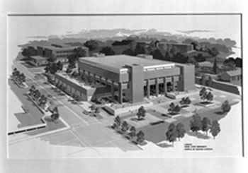 Architect's rendering of the new library