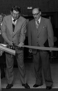 Dedication of the ISU lLibrary in 1977
